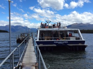 Boat to start of Milford Sound track (trail)