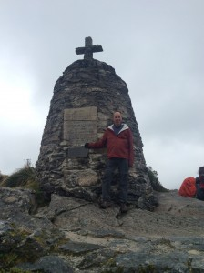 After a long climb, we top Mackinnon Pass