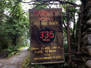 After 35 miles (including side hikes) we get to Sandfly Point!