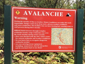 Fortunately, no avalanches this time of year--just rockfall